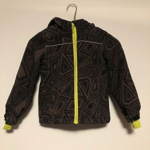 Athletic Works Jacket Coat Hood Long Sleeve Zipper Geometic Print Child 5